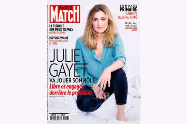 Julie Gayet, libre et engagée derrière le président