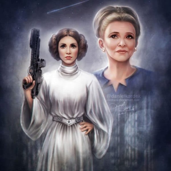 Quelques dessins touchants d'artistes qui rendent hommage à Carrie Fisher, la regrettée Princesse Leia !