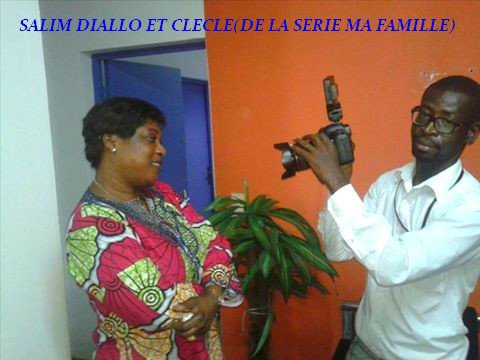 SALIM DIALLO  ET CLEMENTINE(CLECLE) DE LA SERIE MA FAMILLE