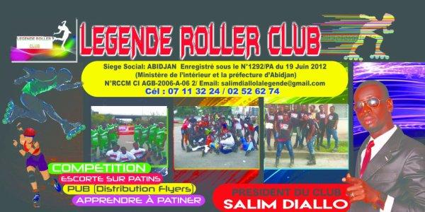 ROLLER COTE D'IVOIRE     Salim Diallo Président de la LEGENDE ROLLER CLUB