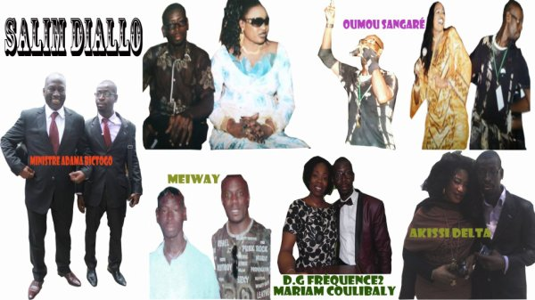 Salim Diallo et quelques Stars