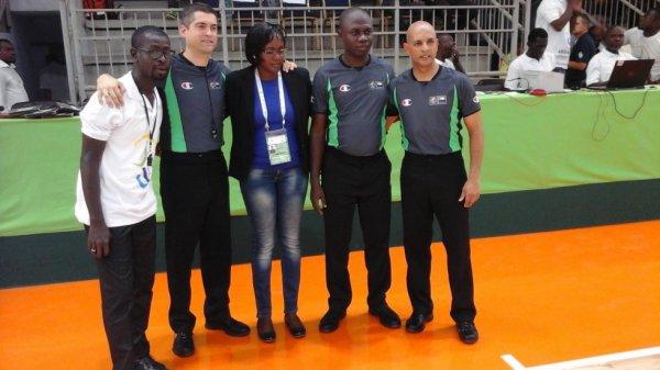 Les arbitres de Basket aux jeux de la Francophonie