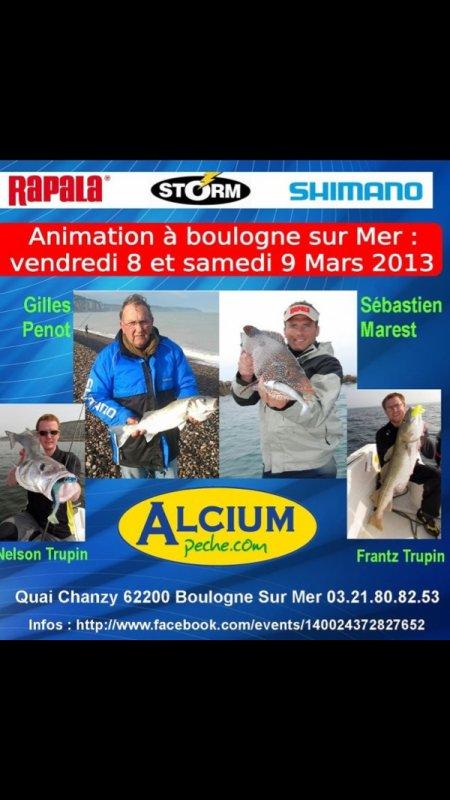 Porte ouverte Alcium Peche le 8 et 9 mars 2013