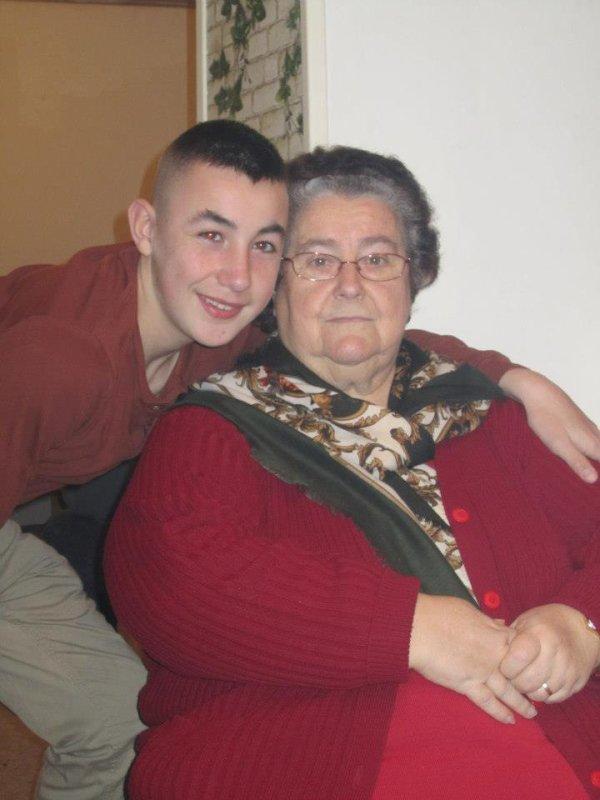 Ma grand mère et Alexis mon filleul