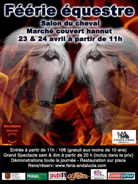 Salon du cheval à Hannut les 23 et 24 avril prochains!