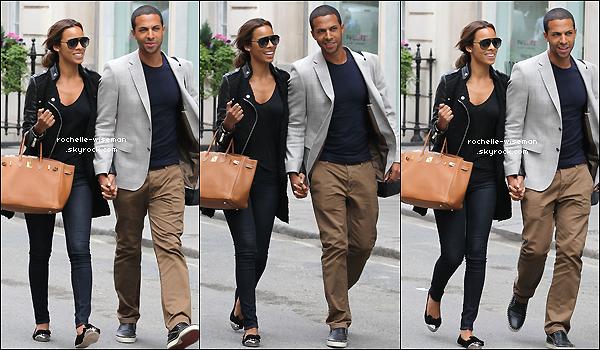 . 07/08/12 : Rochelle et Marv' faisaient leur dernière sortie en amoureux du moid'aoûtdans la capitale anglaise . Après la Range Rover de madame , en voici une autre , celle de Marvin , marquée au nom du couple. C'est un peu égo mais j'♥. .