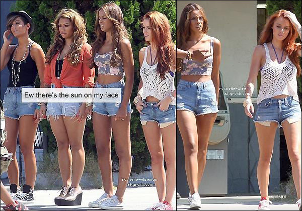 """. 18/08/12 : Rochelle et les filles étaient sur le plateau de tournage de leur clip """"What About Us"""" , à Los Angeles. OMG Rochelle était vraiment magnifique tout comme les filles qui étaient extra. Le clip devrait sortir courant janvier 2013. ."""