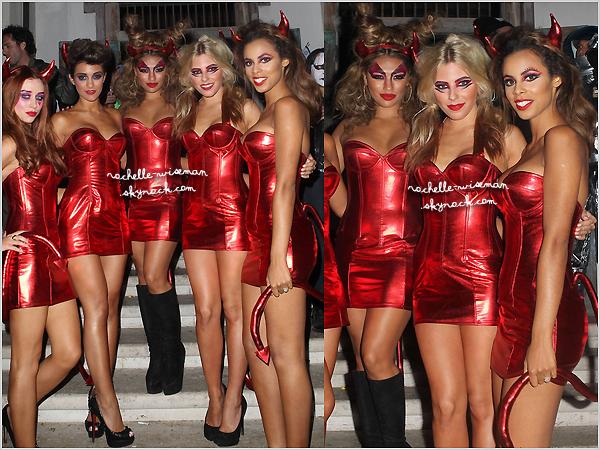 . 31/10/12 : Le lendemain , les filles se sont rendues à la fête d'Halloween d'Adam Levine , chanteur de Maroon5. Pour l'occasion , les filles s'étaient déguisées en diablesses et étaient incroyablement sexy. Pour ma part , je ne suis pas fan. .