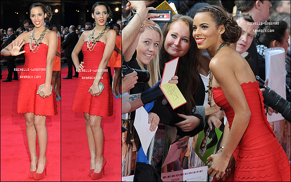 . 22/05/12 : Rochelle était à l'avant-première du film « What To Expect When Your Expecting » dans Londres. Je la trouve vraiment très jolie, dans ce total look rouge, pour le coup assez simple. article flash-back article flash-back article fla  .