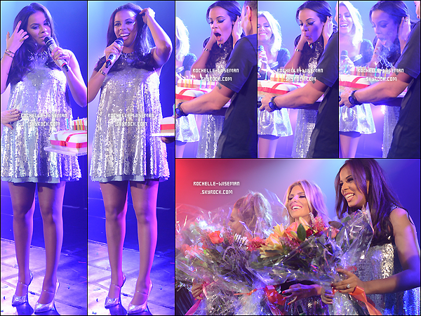 """. 23/03/13 : Les filles donnaient leur dernier """"concert"""" en compagnie de notre Rochelle auG-A-Y Clubde Londres. J'aime beaucoup la petite surprise que les filles lui ont réservéainsique le gros nounours qu'elles lui ont offert. C'était génial. ."""