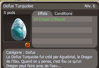 Drop dofus turquoise +14 cc