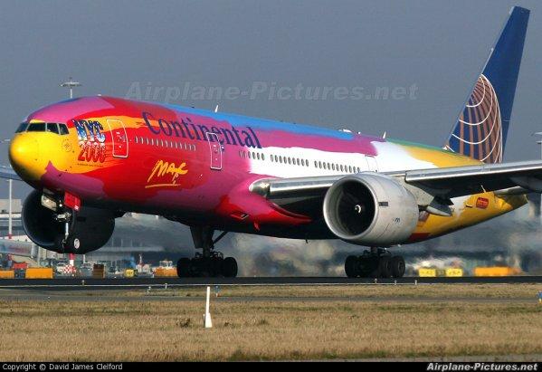continental boeing 757 , boeing 737 et boeing 777