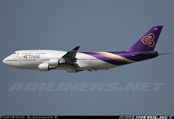 a 300 , boeing 747 et a 340 Thai Airways