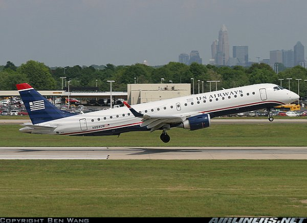 boeing 767 , boeing 757 et Embraer ERJ-190 US Airways