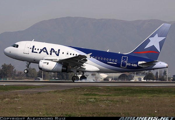 a 320 , a 318 et  boeing 767 Lan airlines