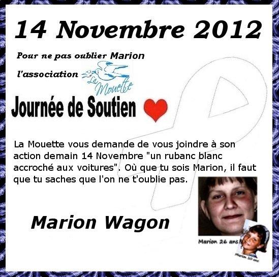 Pour ne pas oublier la disparition de Marion Wagon
