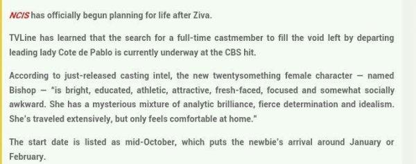 Tout sur la remplaçante de Ziva.