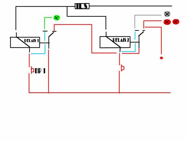 plan electrique pour signalistion auto par relais blog de train modelisme22. Black Bedroom Furniture Sets. Home Design Ideas