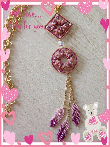 N•46 sautoire plume rose