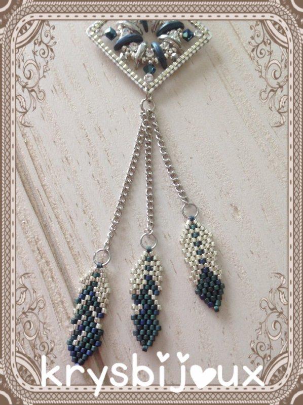 N•47 sautoire plume bleu