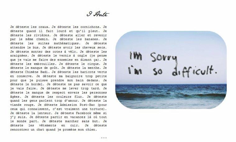 - I hate -