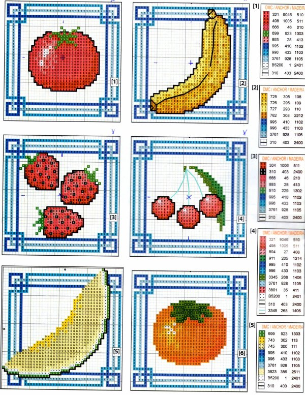 Nappe tutti-frutti - grilles