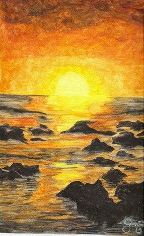 Couché de soleil à la Réunion en vente sur priceministère pseudo Margoze