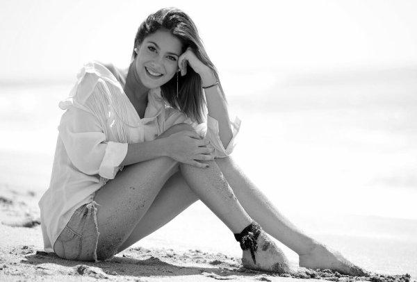 Martina à la plage