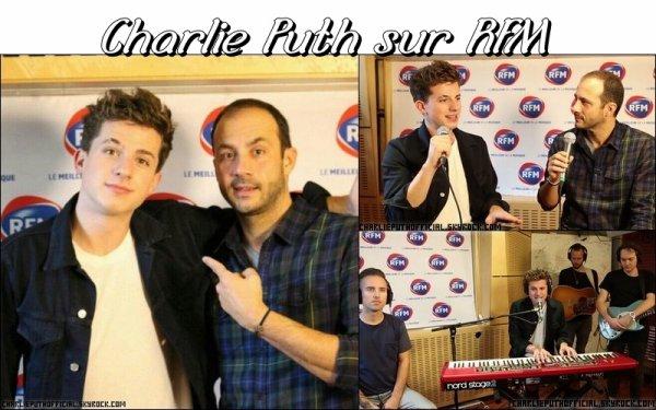 Charlie Puth sur RFM