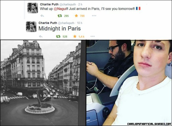Charlie Puth à Paris
