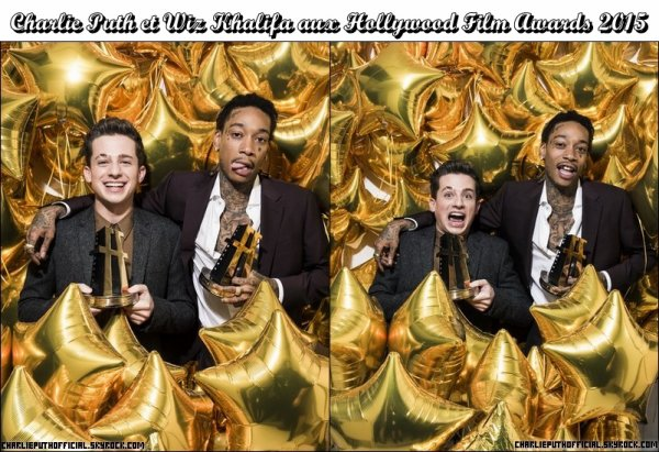 Charlie Puth aux Hollywood Film Awards 2015