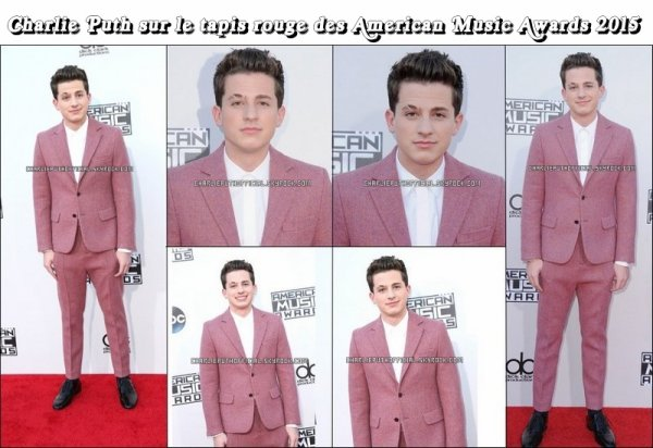 Charlie Puth aux American Music Awards 2015