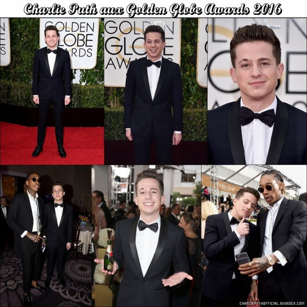 Charlie Puth Aux Golden Globe Awards 2016