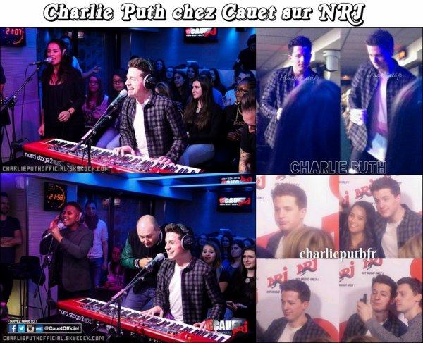 Charlie Puth chez Cauet sur NRJ le 20/01/16