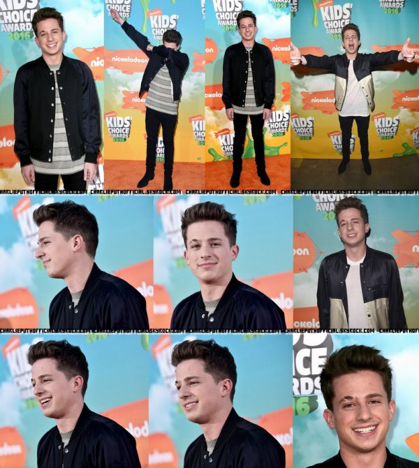Charlie Puth aux Kids Choice Awards 2016