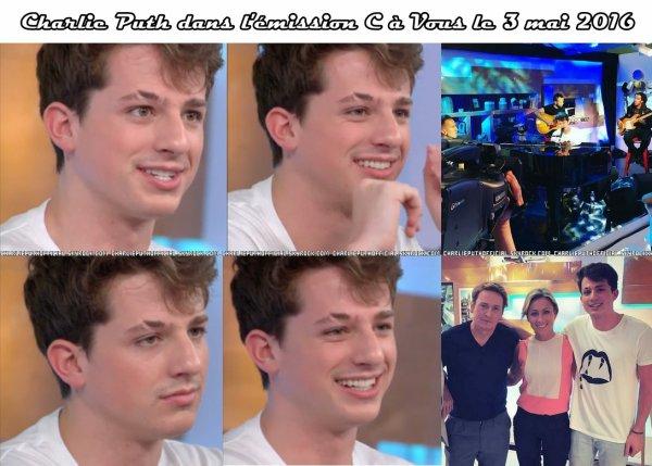 Charlie Puth dans l'émission C à vous + Taratata
