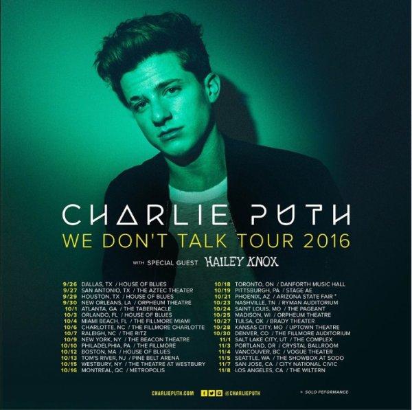 We Don't Talk Tour 2016