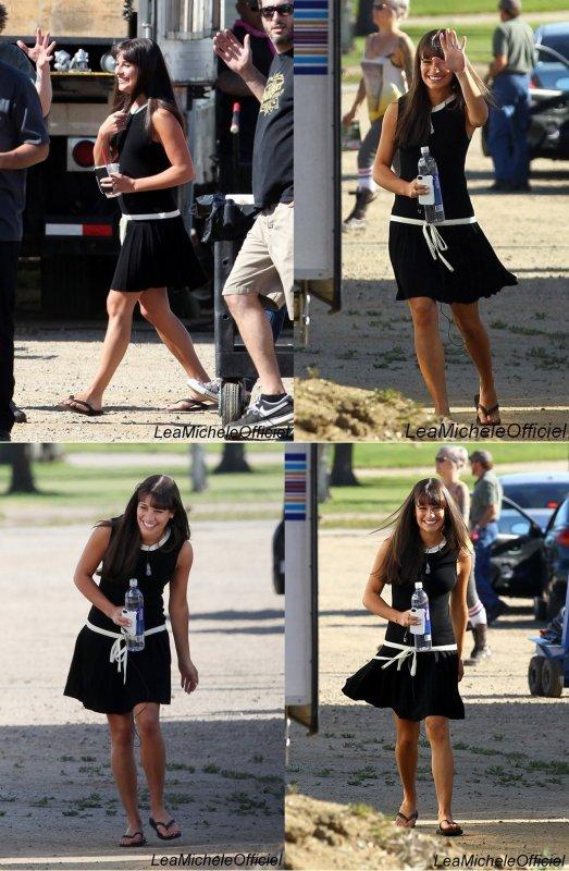 16 Avril 2012. Léa a été vue sur le tournage de GLEE