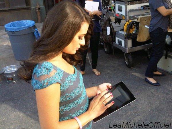 25 Avril 2012. Léa a été vue sur le tournage de Glee .