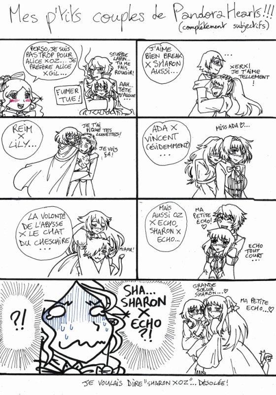 Mes p'tits couples de Pandora Hearts !!! (complétement subjectifs)