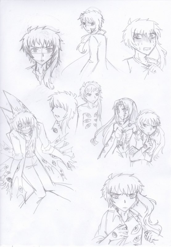 Croquis de recherche Hyakume (surnommé Noenoeil)
