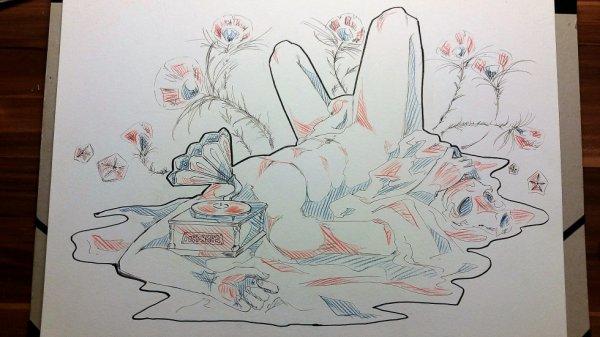 Le dessin de la drooogue