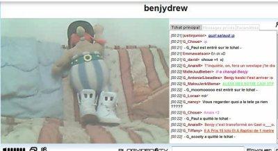 Infos en direct sur Benjy Drew (TChat)