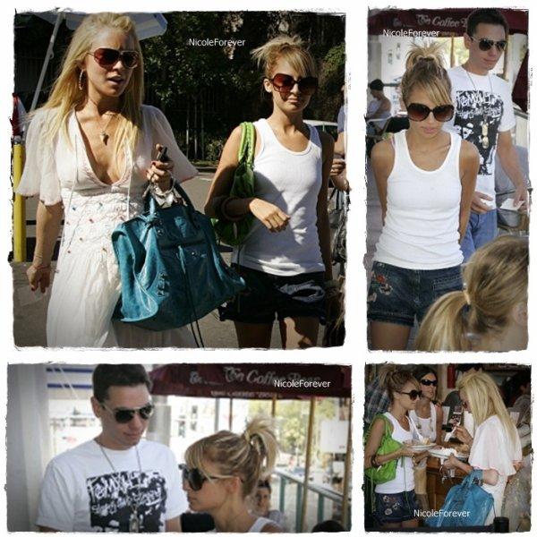 13 Mai 2oo6  -  Nicole dans sortant du restaurant avec Adam (sont petit ami de l'époque) et Lindsay Lohan.