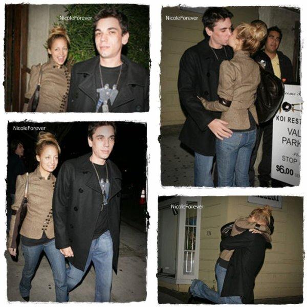 20 Décembre 2oo4  -  Nicolet son ex-petit ami Adam sortant du restaurant Koi de Los Angeles