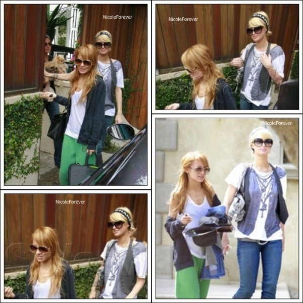 9 Octobre 2oo6  -  Nicole sortant de la maison de Paris Hilton avec celle-ci