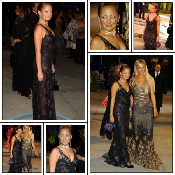 29 Février 2oo4  -  Nicole et Paris Hilton participe au Vanity Fair Oscar Party en 2004