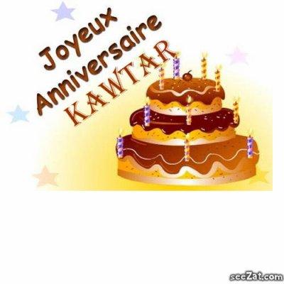 bon anniversaire kawtar