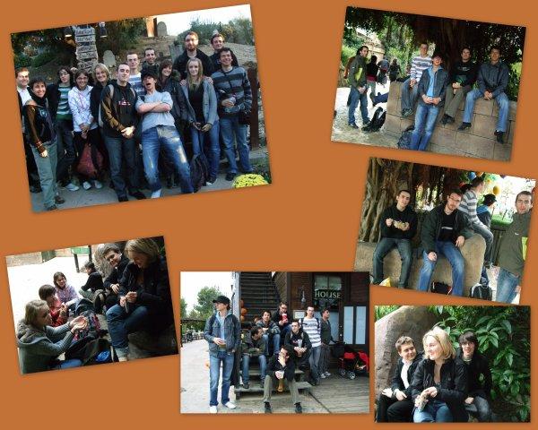 OCTOBRE 2010 Les étudiants du club à PORT AVENTURA