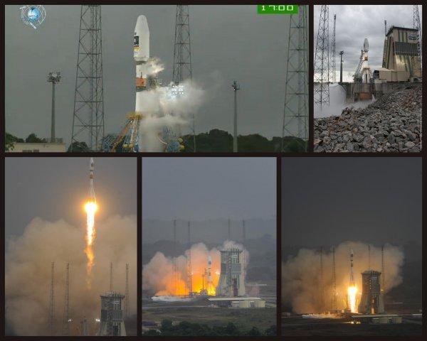 SUCCES DU PREMIER TIR D'UN SOYOUZ depuis le Centre Spatial Guyanais, ce vendredi 21 octobre 2011